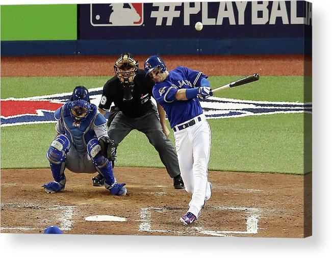 People Acrylic Print featuring the photograph Troy Tulowitzki by Vaughn Ridley