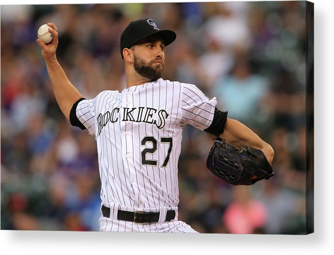 Baseball Pitcher Acrylic Print featuring the photograph Tyler Chatwood by Doug Pensinger