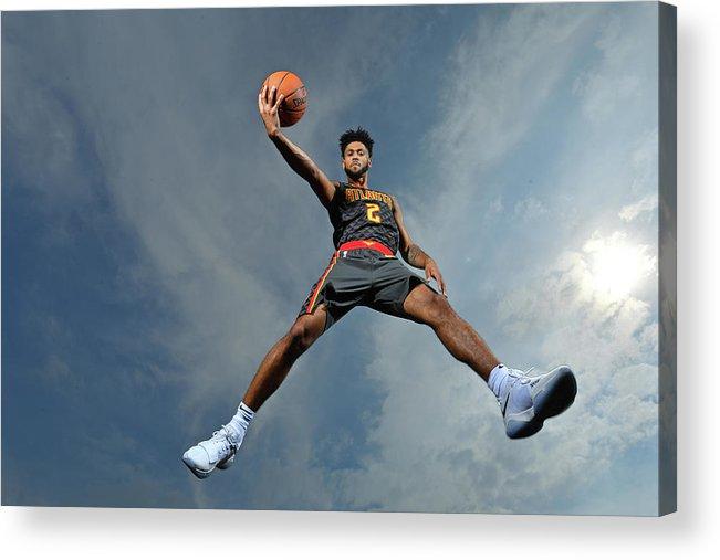 Nba Pro Basketball Acrylic Print featuring the photograph Tyler Dorsey by Jesse D. Garrabrant