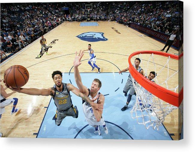 Nba Pro Basketball Acrylic Print featuring the photograph Tyler Dorsey by Joe Murphy