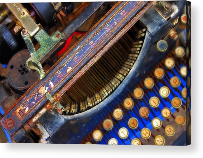Typewriter Acrylic Print featuring the photograph Typewriter by Skip Hunt