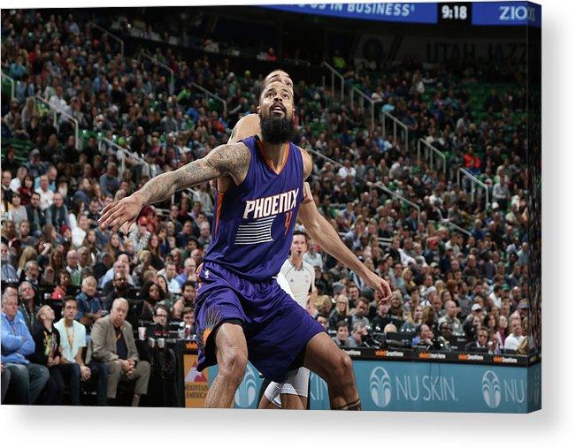 Nba Pro Basketball Acrylic Print featuring the photograph Tyson Chandler by Melissa Majchrzak