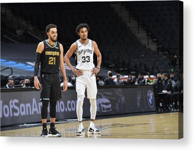 Nba Pro Basketball Acrylic Print featuring the photograph Tyus Jones by Logan Riely