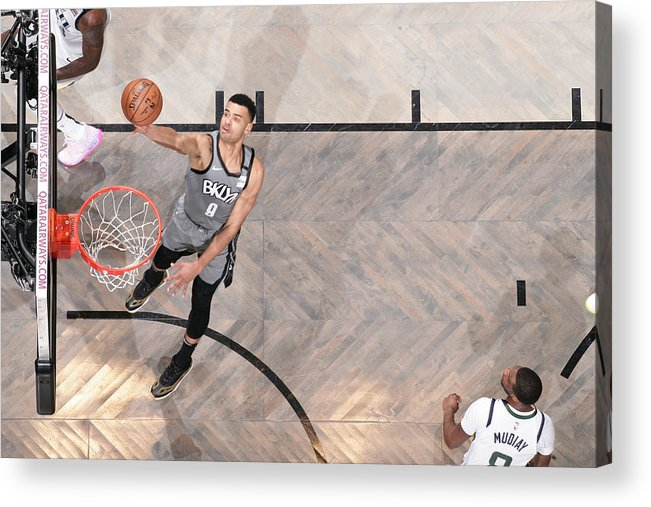 Nba Pro Basketball Acrylic Print featuring the photograph Utah Jazz v Brooklyn Nets by Nathaniel S. Butler