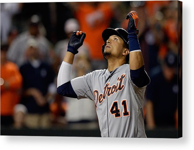 Ninth Inning Acrylic Print featuring the photograph Victor Martinez by Patrick Mcdermott