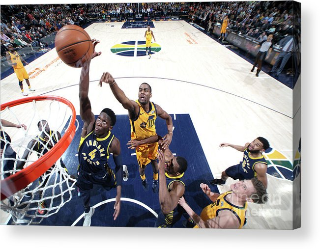 Nba Pro Basketball Acrylic Print featuring the photograph Victor Oladipo by Melissa Majchrzak
