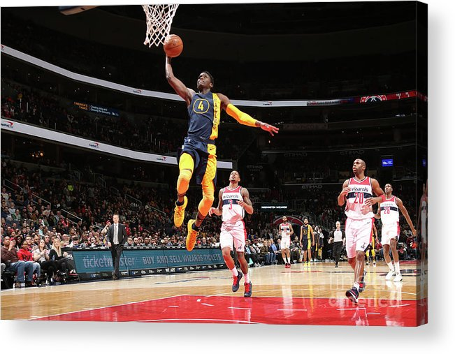 Nba Pro Basketball Acrylic Print featuring the photograph Victor Oladipo by Ned Dishman