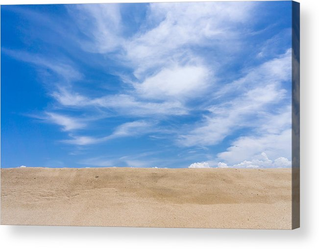 Tranquility Acrylic Print featuring the photograph View Of Sand Against Blue Sky And Clouds by Jesse Coleman / Eyeem