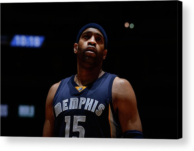 Nba Pro Basketball Acrylic Print featuring the photograph Vince Carter by Bart Young