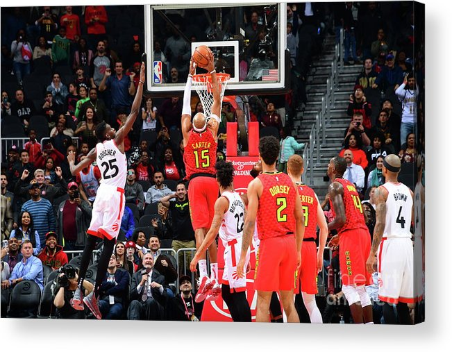 Atlanta Acrylic Print featuring the photograph Vince Carter by Scott Cunningham
