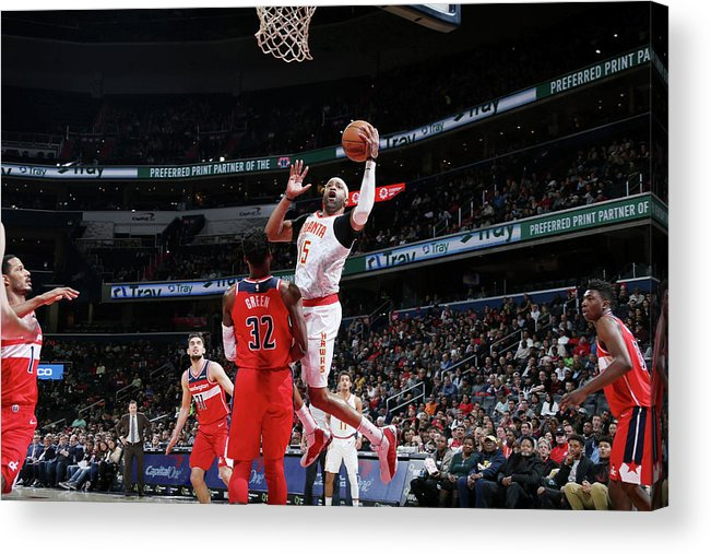 Nba Pro Basketball Acrylic Print featuring the photograph Vince Carter by Stephen Gosling