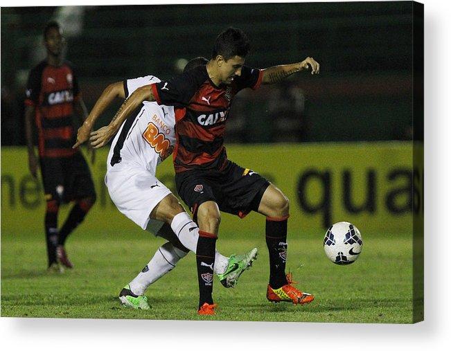 Bahia State Acrylic Print featuring the photograph Vitoria v Atletico MG - Brasileirao Series A 2014 by Felipe Oliveira