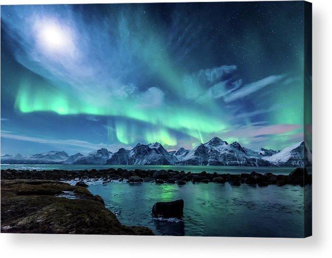 Moon Acrylic Print featuring the photograph When the moon shines by Tor-Ivar Naess