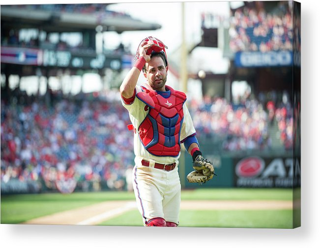 Citizens Bank Park Acrylic Print featuring the photograph Wil Nieves by Rob Tringali