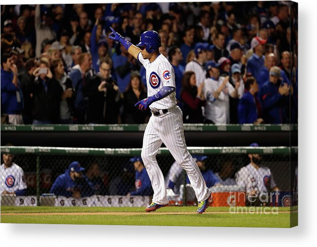 Second Inning Acrylic Print featuring the photograph Willson Contreras by Jamie Squire