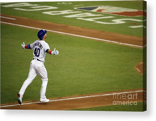 People Acrylic Print featuring the photograph Willson Contreras by Patrick Mcdermott