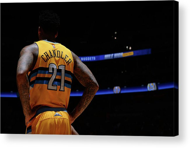 Nba Pro Basketball Acrylic Print featuring the photograph Wilson Chandler by Bart Young