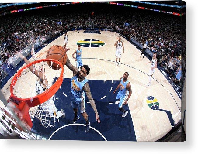 Nba Pro Basketball Acrylic Print featuring the photograph Wilson Chandler by Melissa Majchrzak