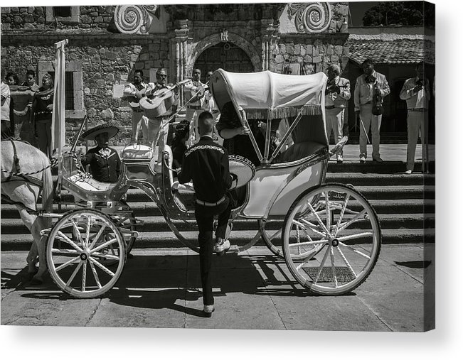 Escaramuza Acrylic Print featuring the photograph Wooden Carriage in Mexico by Dane Strom