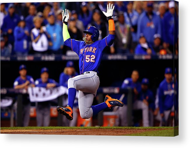 Yoenis Cespedes Acrylic Print featuring the photograph Yoenis Cespedes by Jamie Squire