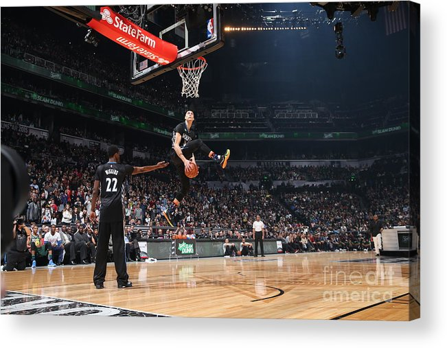 Event Acrylic Print featuring the photograph Zach Lavine by Reid Kelley