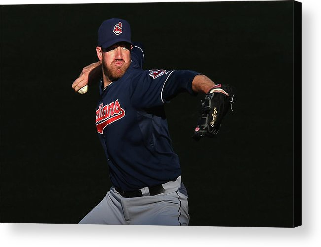 American League Baseball Acrylic Print featuring the photograph Zach Mcallister by Jeff Gross