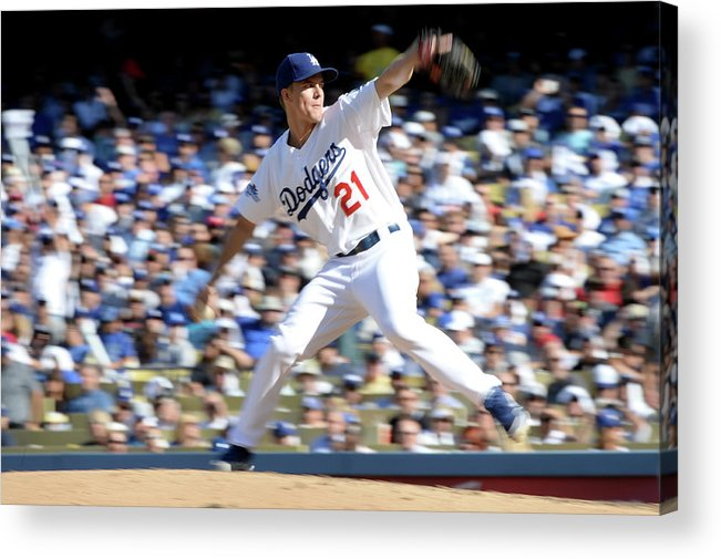 American League Baseball Acrylic Print featuring the photograph Zack Greinke by Harry How