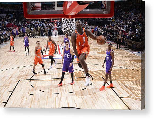 Nba Pro Basketball Acrylic Print featuring the photograph Zion Williamson by Jesse D. Garrabrant