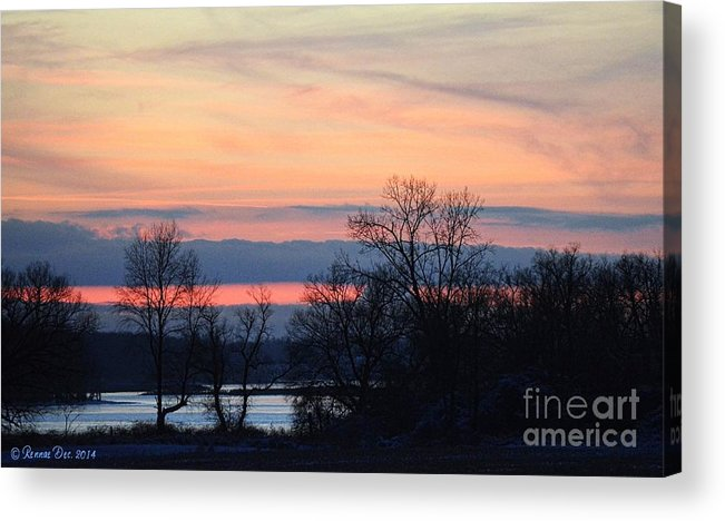 Landscape Acrylic Print featuring the photograph Sun Down by Rennae Christman