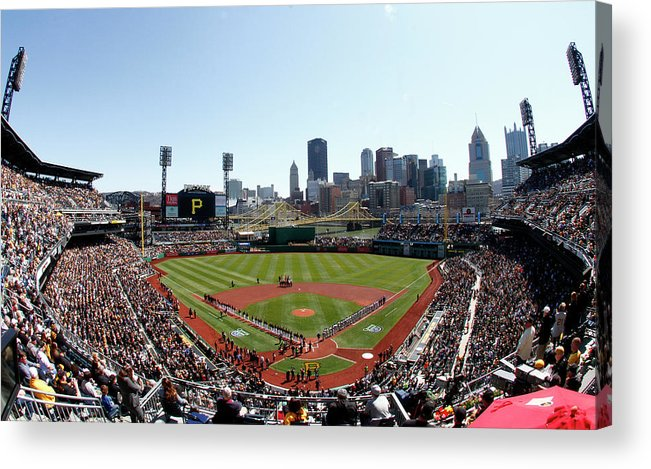 Professional Sport Acrylic Print featuring the photograph Chicago Cubs V Pittsburgh Pirates by Justin K. Aller