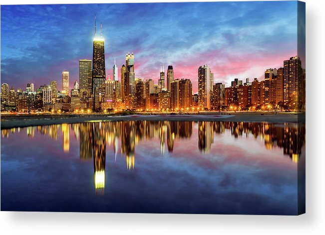 Tranquility Acrylic Print featuring the photograph Chicago by Joe Daniel Price