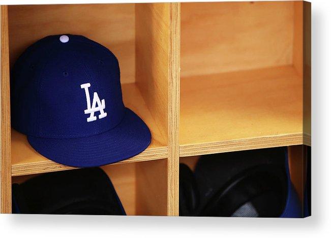 Season Acrylic Print featuring the photograph Los Angeles Dodgers V Arizona by Mark Nolan