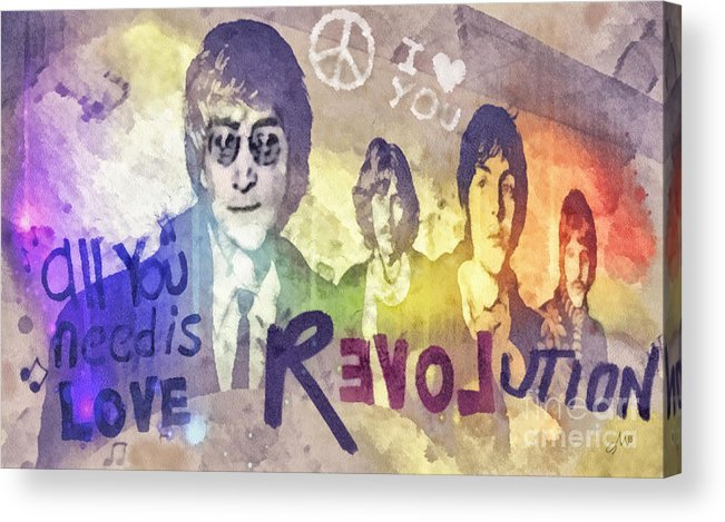 Revolution Acrylic Print featuring the mixed media Revolution by Mo T