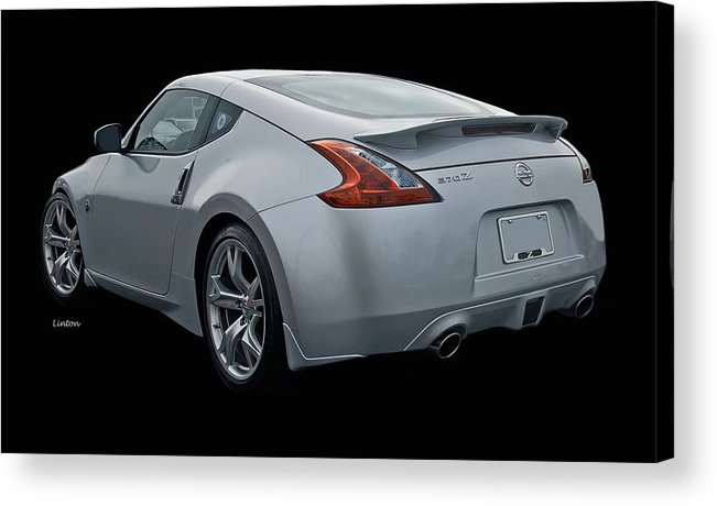 Nissan 370 Z Acrylic Print featuring the photograph Z by Larry Linton