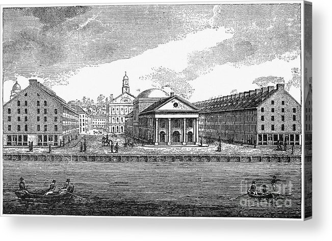 19th Century Acrylic Print featuring the photograph Boston: Quincy Market by Granger