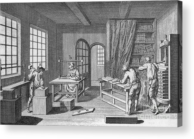 1763 Acrylic Print featuring the photograph Bookbinder, 1763 by Granger