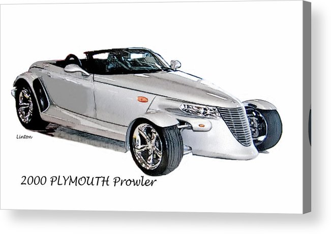 Plymouth Prowler Acrylic Print featuring the digital art Prowler by Larry Linton