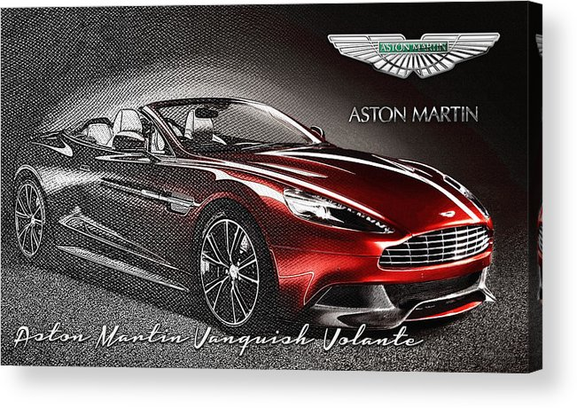 �wheels Of Fortune� Collection By Serge Averbukh Acrylic Print featuring the photograph Aston Martin Vanquish Volante by Serge Averbukh