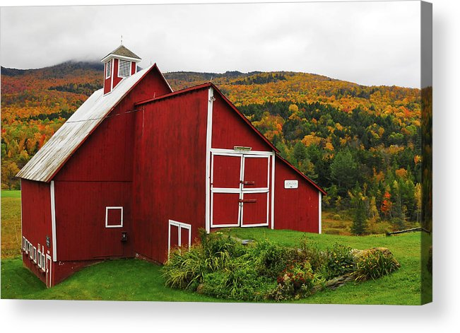 Red Barn Acrylic Print featuring the photograph Barn by Mandy Wiltse