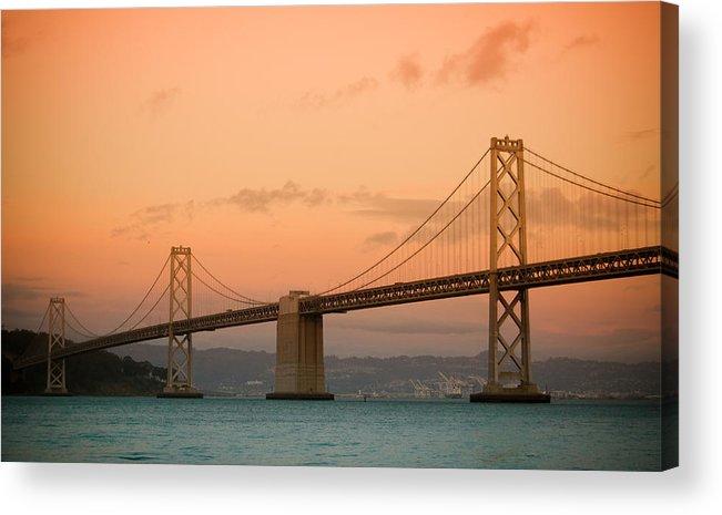 Bay Bridge Acrylic Print featuring the photograph Bay Bridge by Mandy Wiltse