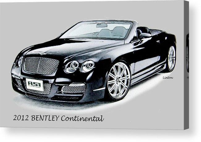 Bentley Acrylic Print featuring the digital art Bentley by Larry Linton