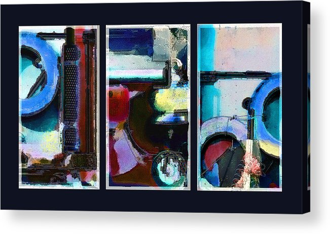 Abstract Acrylic Print featuring the digital art Centrifuge by Steve Karol