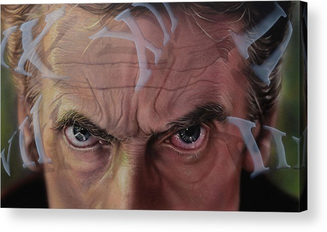 Drwho Acrylic Print featuring the painting Dr. Who by Robert Haasdijk