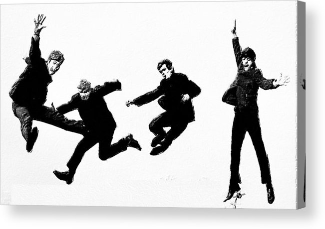 The Beatles Acrylic Print featuring the painting Fab by Tony Rubino