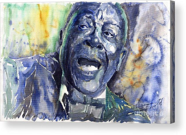 Jazz Acrylic Print featuring the painting Jazz B.B.King 04 Blue by Yuriy Shevchuk