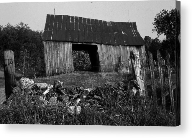 Vintage Acrylic Print featuring the photograph Lloyd-shanks-barn-4 by Curtis J Neeley Jr