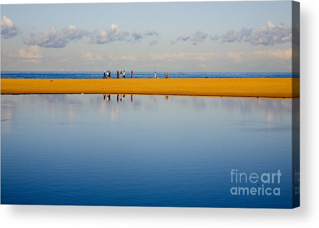 Dunes Lowry Sand Sky Reflection Sun Lifestyle Narrabeen Australia Acrylic Print featuring the photograph Narrabeen dunes by Sheila Smart Fine Art Photography