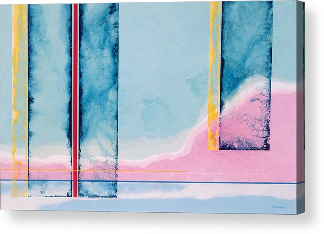Landscape Acrylic Print featuring the painting Transitory Veils by Lyle Crump