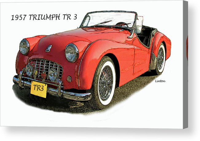 Triumph Tr3 Acrylic Print featuring the digital art Triumph by Larry Linton