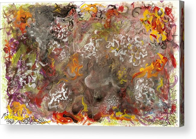 Depth Acrylic Print featuring the mixed media Underlying Theme - Tag by Nathaniel Hoffman